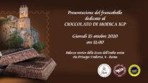 Presentazione del francobollo dedicato al Cioccolato di Modica IGP